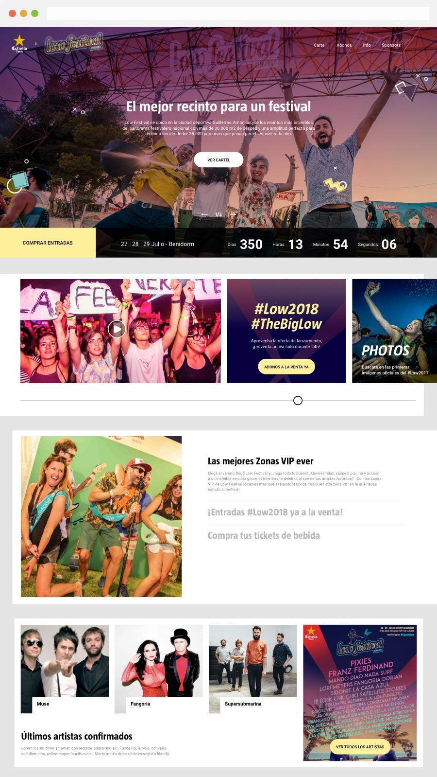 página web nueva low festival